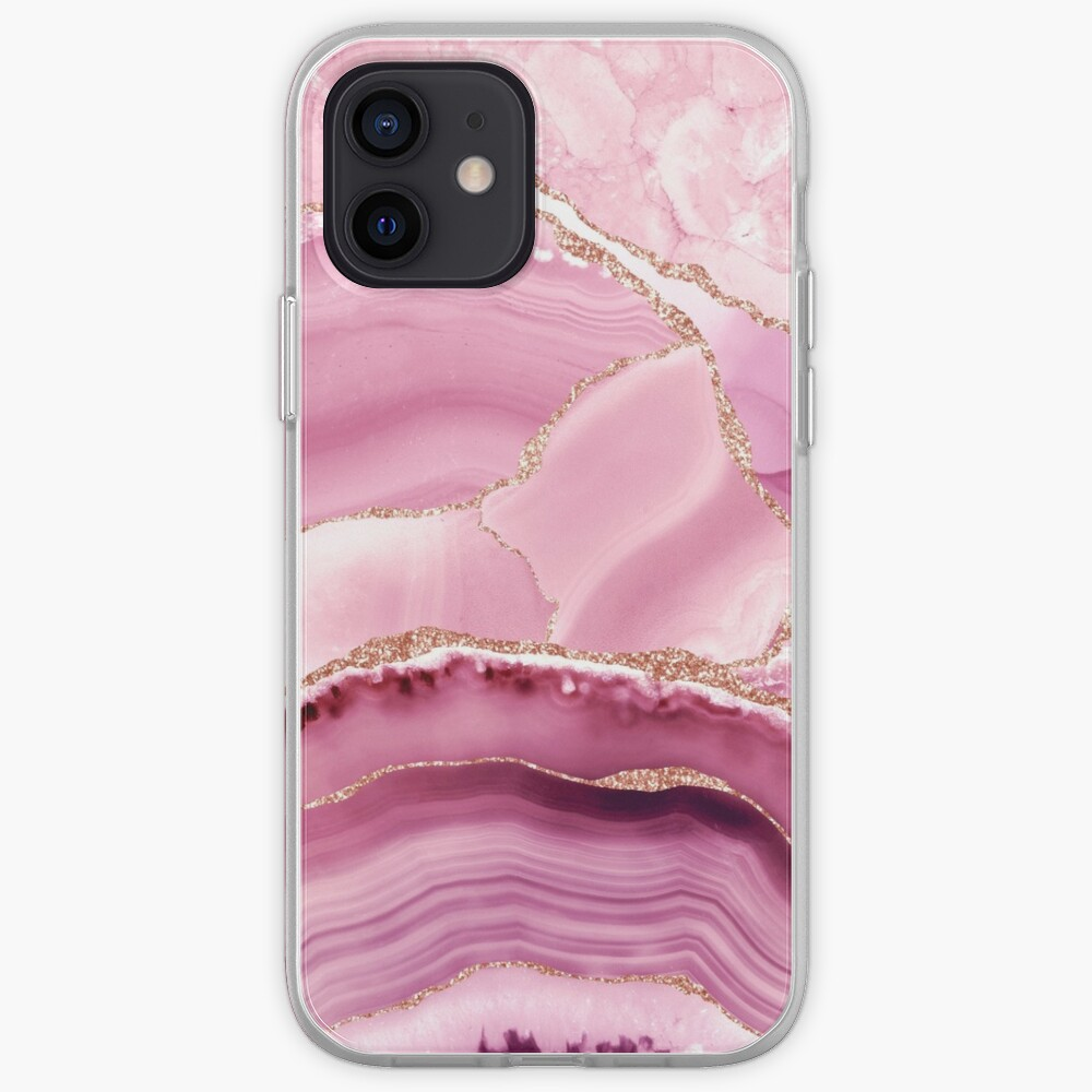 Pink And Gold Marble Landscapes  iPhone Case & Cover