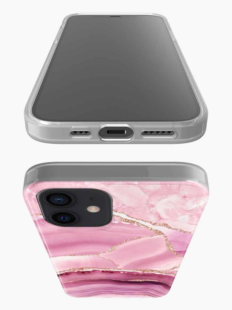 Alternate view of Pink And Gold Marble Landscapes  iPhone Case & Cover