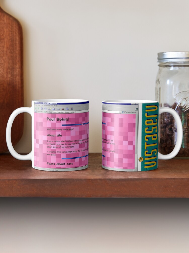 A mug with a screenshot of boom's home page on it