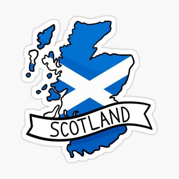 Scotland Flag Map Sticker Sticker