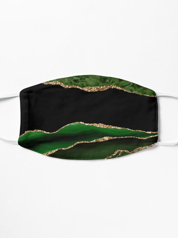 Alternate view of Emerald Green Malachite Marble Mask