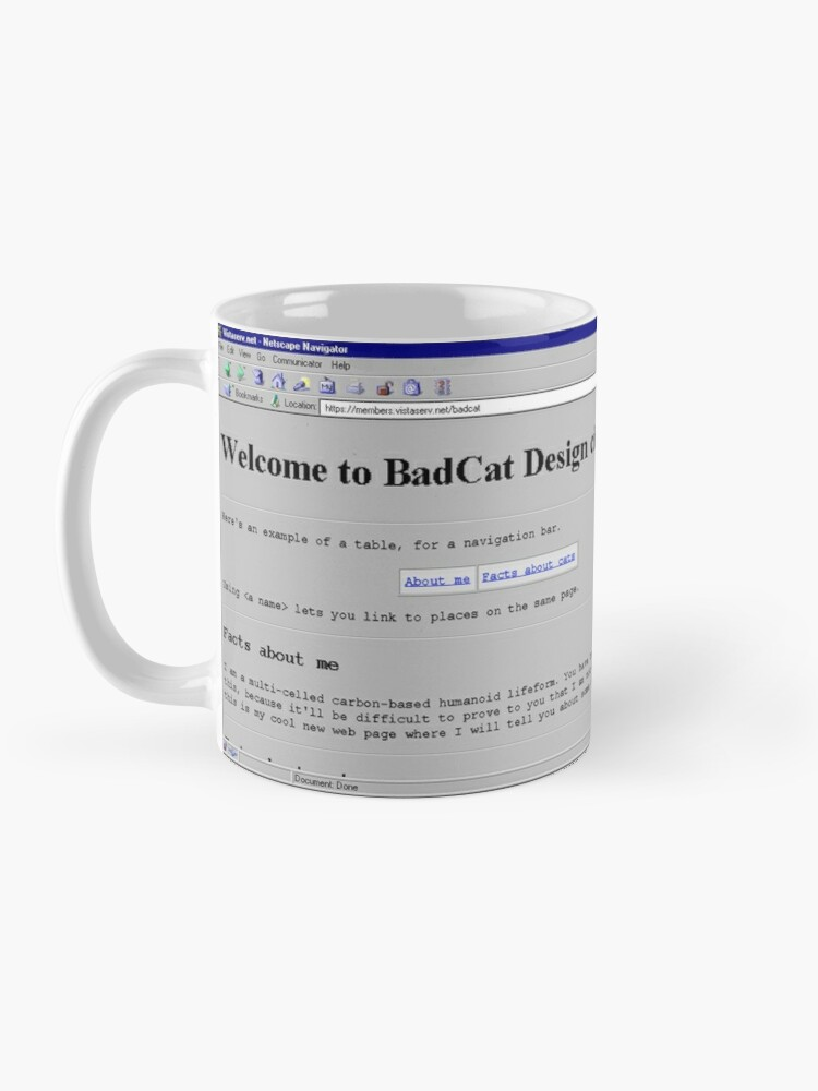 Alternate view of badcat on Vistaserv.net Mug