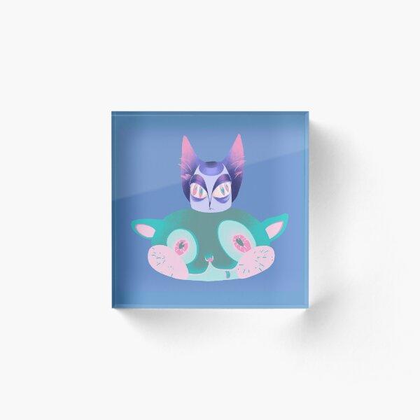 Cat on Kitty Acrylic Block