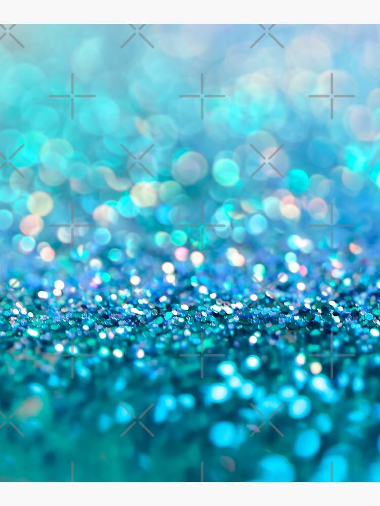 Mermaid Ocean Blue Blush Glitter by MysticMarble