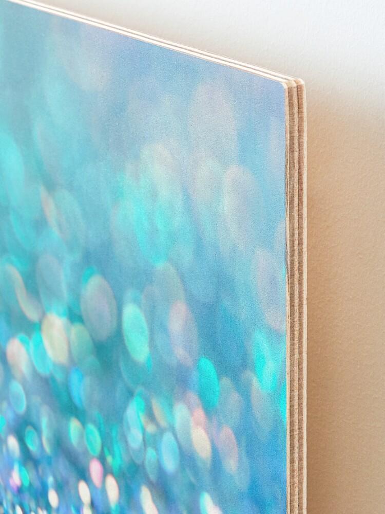 Alternate view of Mermaid Ocean Blue Blush Glitter Mounted Print