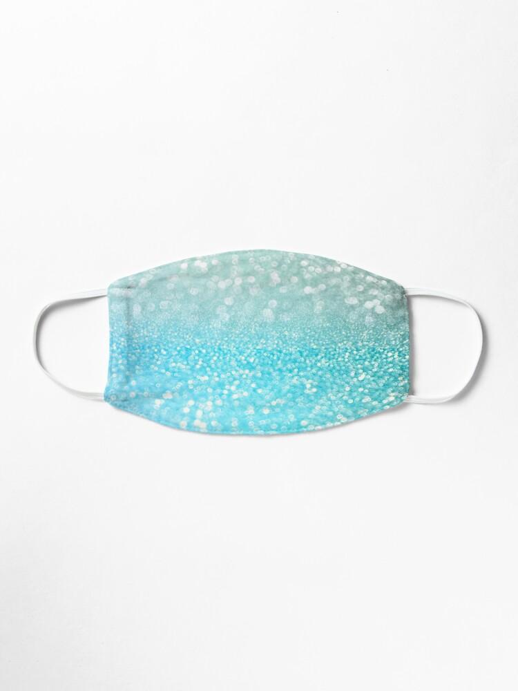 Alternate view of Mermaid Ocean Blue Blush Glitter Mask