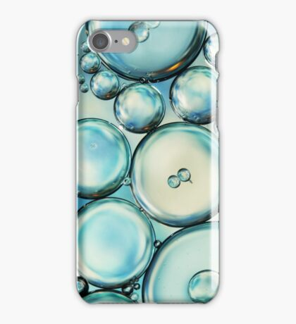 Sky Blue Bubble Abstract iPhone Case/Skin