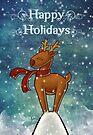 Holiday Reindeer by Ine Spee