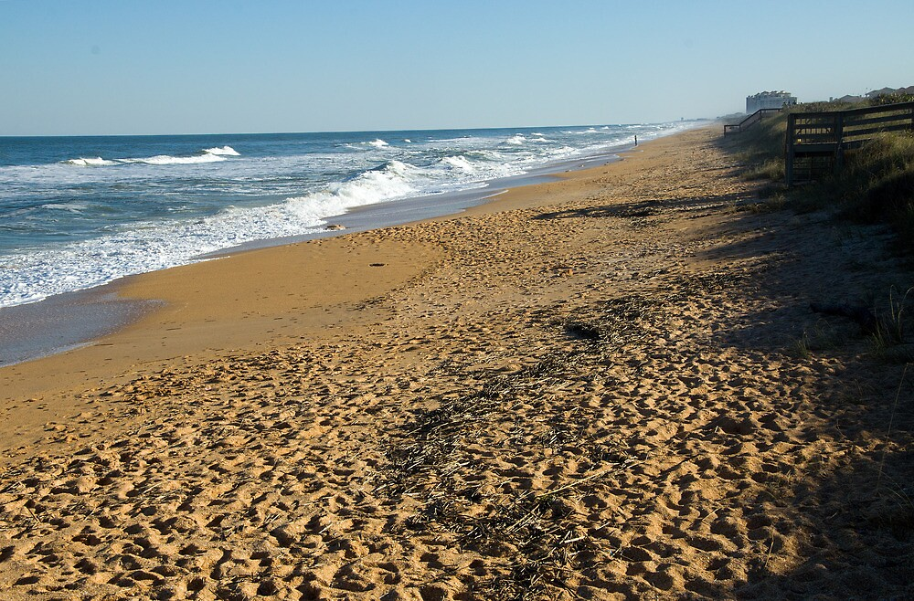 Footsteps at Cinnamon Beach  by John  Kapusta