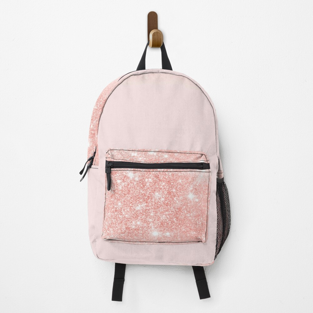 Blush Rosegold Glitter  Backpack