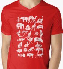 Animal A-z Mens V-Neck T-Shirt