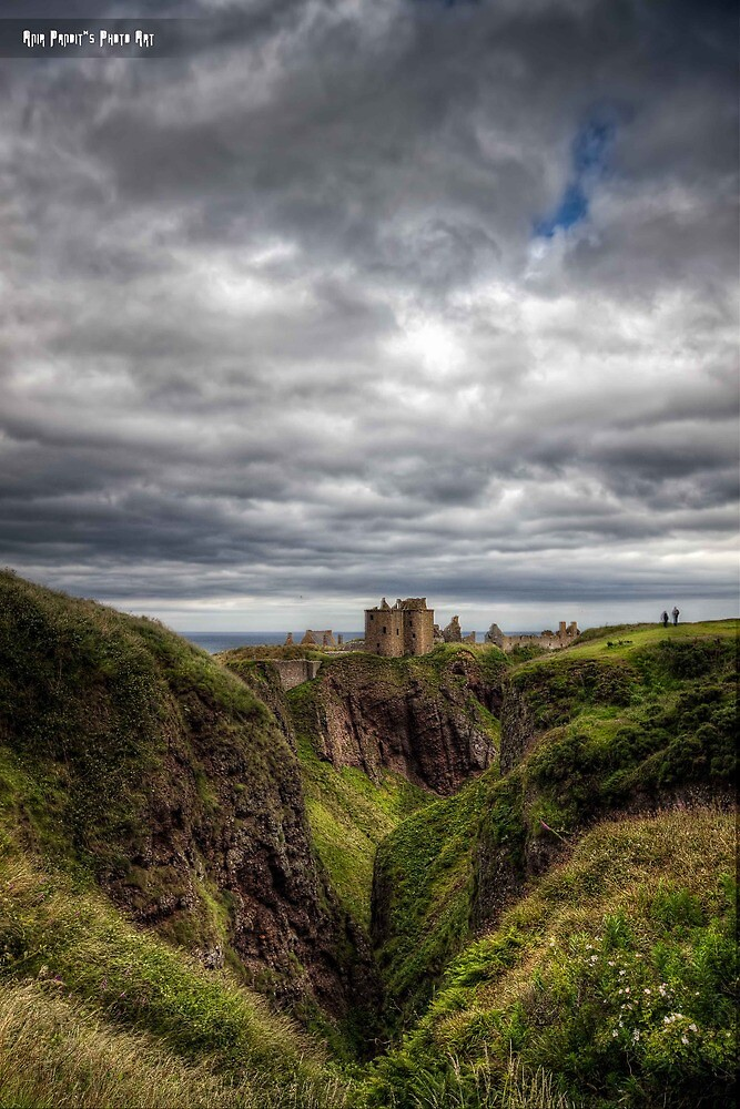 Dùn Fhoithear, the Fort on The Shelving Slope    Dunnotar Castle, Scotland by Anir Pandit
