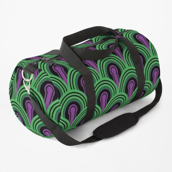 Overlook Hotel Carpet from The Shining: Purple/Green Duffle Bag