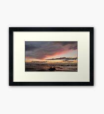 Sunset Cumbria Framed Print