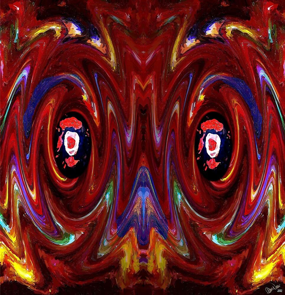 Double Swirl Christmas Face by Dennarto