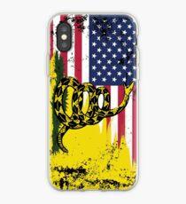 American Gadsden Flag Worn iPhone Case