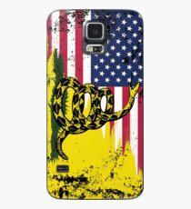 Amerikanische Gadsden-Flagge getragen Hülle & Klebefolie für Samsung Galaxy
