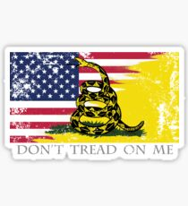 American Gadsden Flag Worn Sticker
