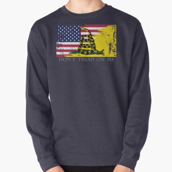 American Gadsden Flag Worn Pullover Sweatshirt