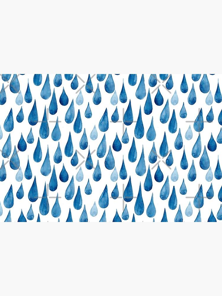 Watercolor rain drops by kostolom3000