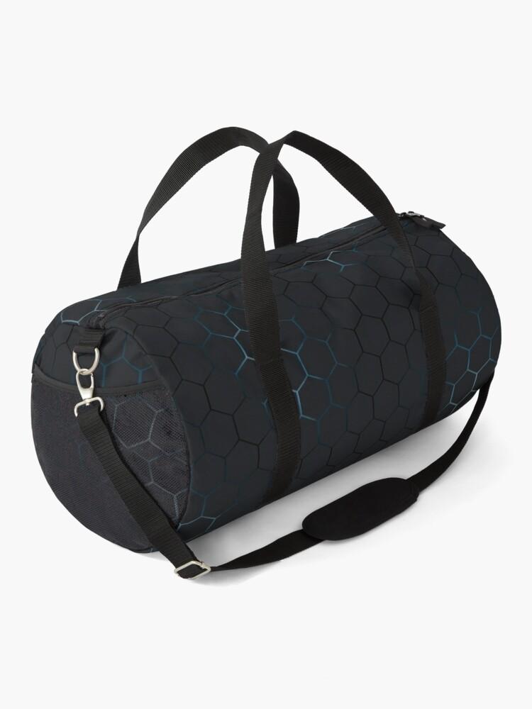 Alternate view of Futuristic honeycomb  Duffle Bag