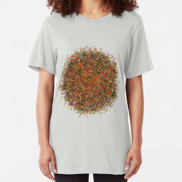 Flower sphere Slim Fit T-Shirt