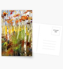 Brush Stroke Birchs Postcards