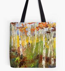 Brush Stroke Birchs Tote Bag