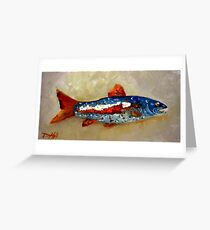 Yankee Doodle Trout Greeting Card