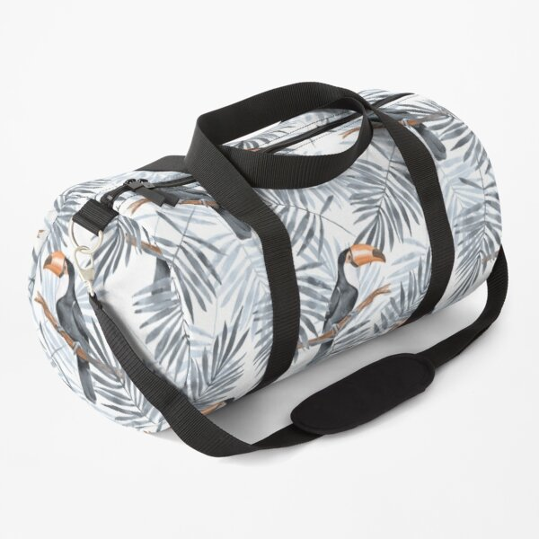 Palm leaves and Toucan Duffle Bag