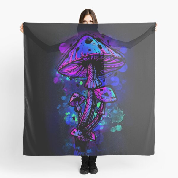 Psychedelic Mushrooms Scarf