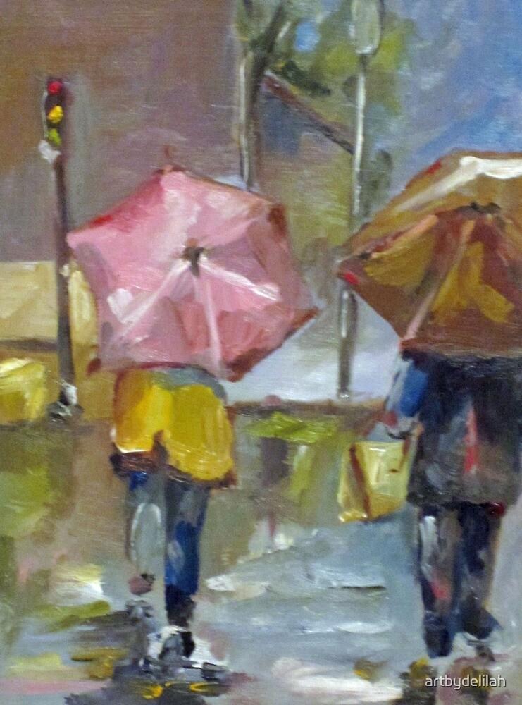 A Walk in the Rain by artbydelilah