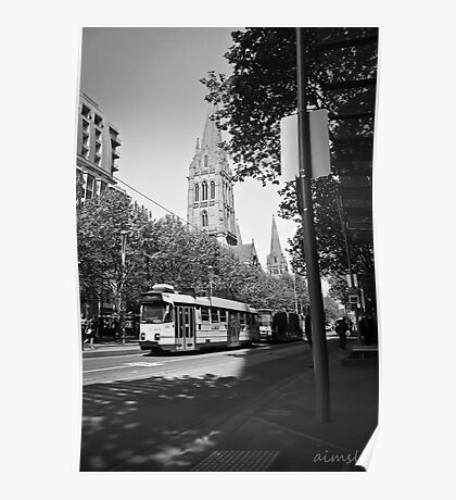 Trams in Melbourne Poster