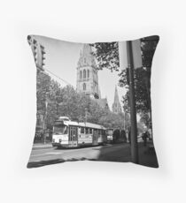 Trams in Melbourne Throw Pillow