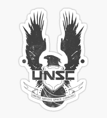 UNSC Logo Grey Sticker