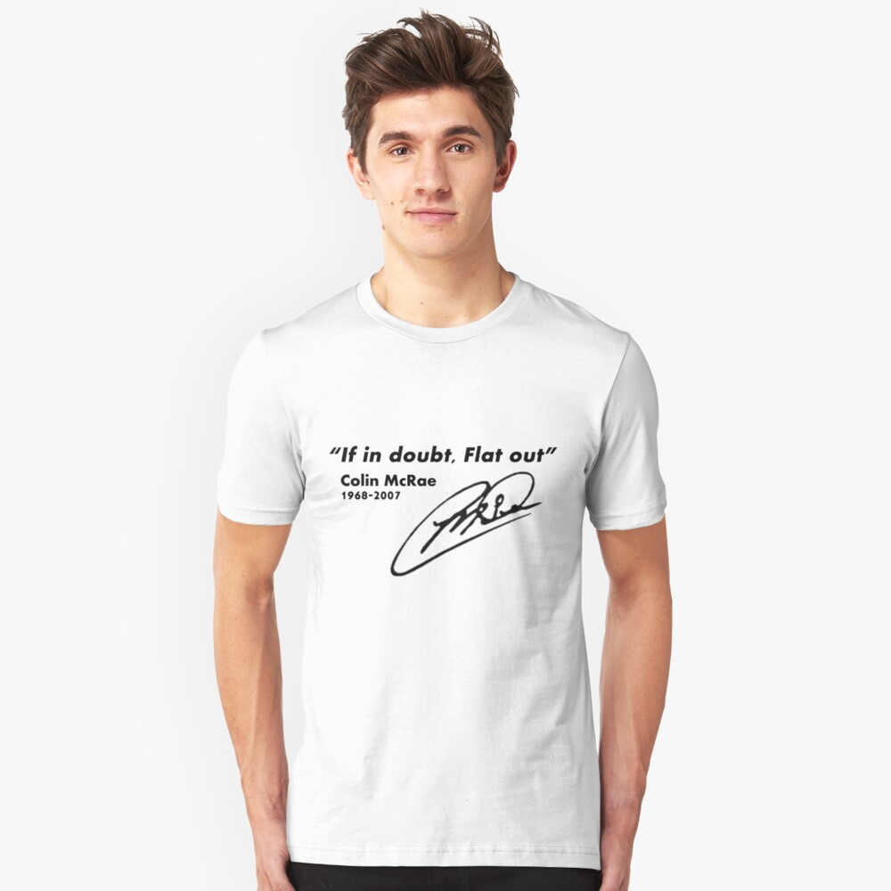 If in doubt, Flat out Unisex T-Shirt Front