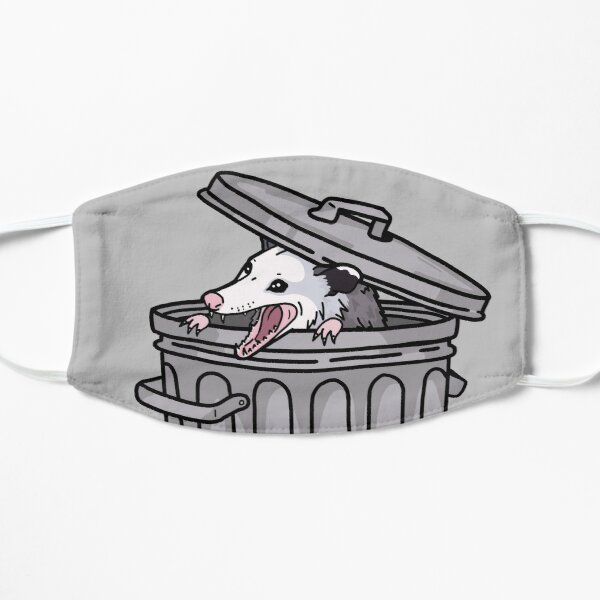 opossum trash cat Mask