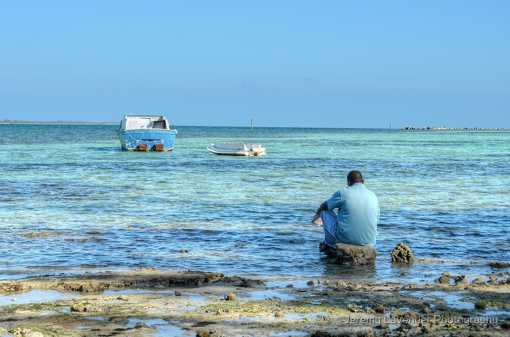 Peaceful time while looking at the sea in Nassau, The Bahamas by Jeremy Lavender Photography