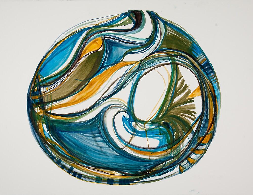 "Sea Vessel, ""Deep Calls To Deep"" Ocean Series by Danielle David Grinnen"