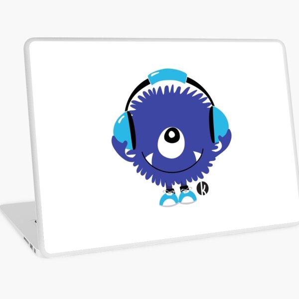 Nettes Sound Monster mit Kopfhörer Laptop Folie