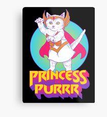 Princess of Purrr Metal Print