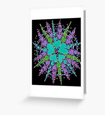 Web Of Life (on black) Greeting Card