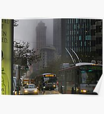 Market Street Morning Rush Poster