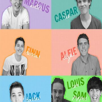 The Crew: Marcus, Alfie, Louis, Sam, Casper ,Jack, and Finn by amberbaugh4