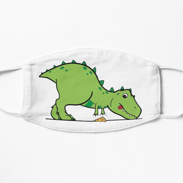 cute t-rex reaching for pizza Mask