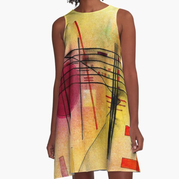 Kandinsky - Vibrant, colorful abstract painting A-Line Dress