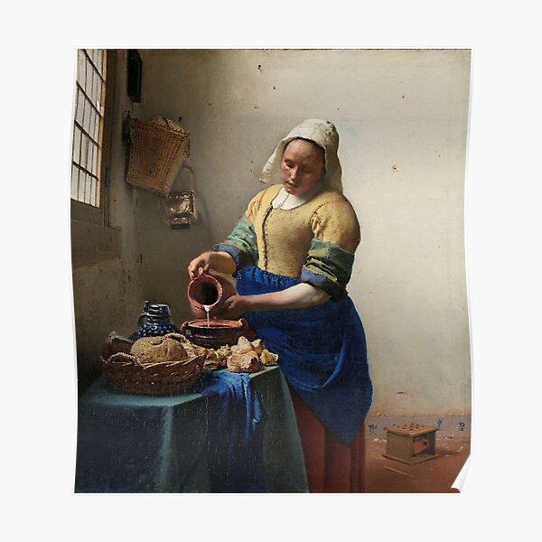 The Milkmaid - Johannes Vermeer 1660 Poster