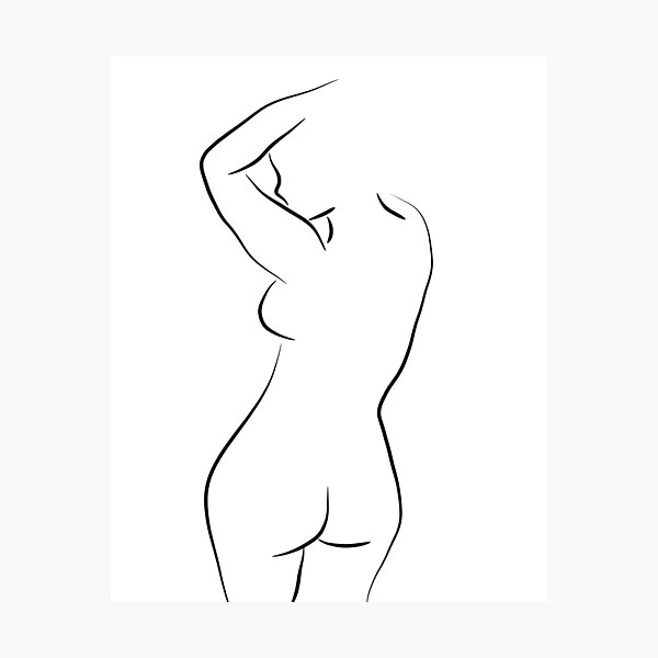Sexy Female Form Line Drawing - Whole Lotta Lana Photographic Print