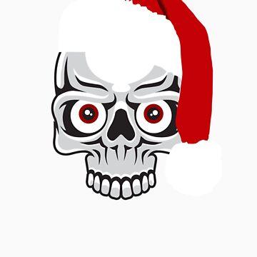 skull christmas  by pewegrafis