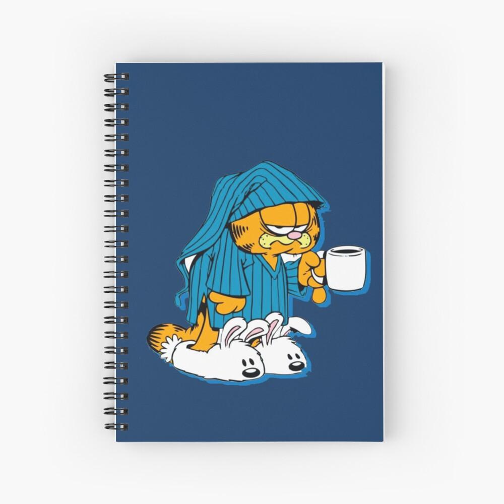 Garfield Sleepy And Grumpy Garfield Hardcover Journal By Redblueyellowd Redbubble